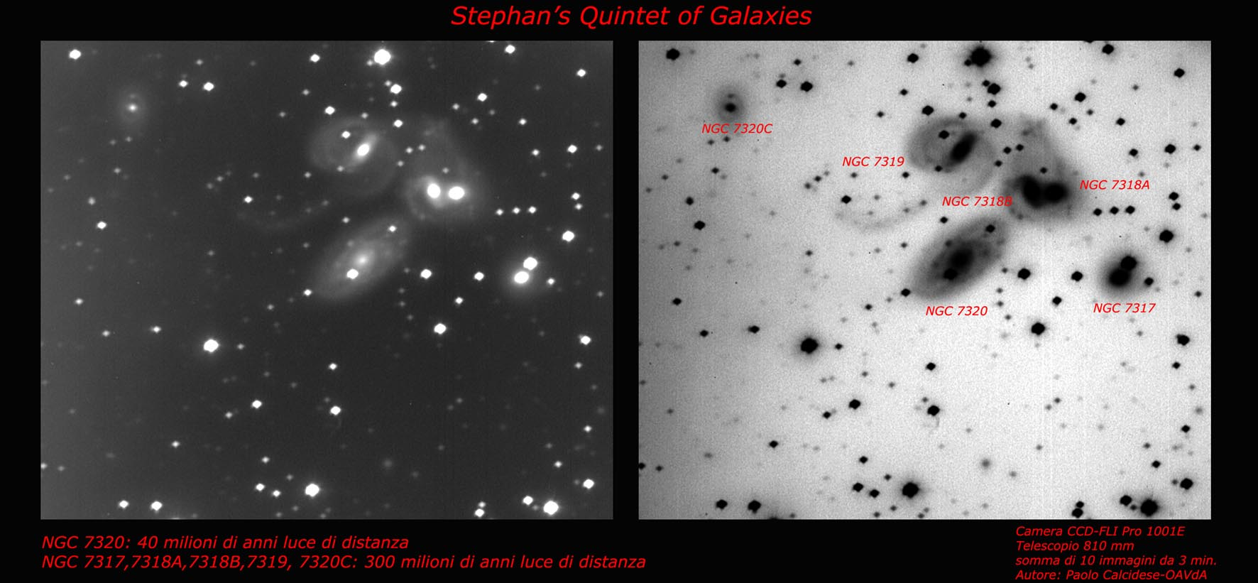QUINTETTO DI STEPHAN Telescopio principale AUTORE: PAOLO CALCIDESE
