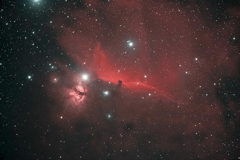 NGC 2024 & IC 434 - NEBULOSA FIAMMA & TESTA DI CAVALLO Autori: Paolo Calcidese & Stefano Cademartori
