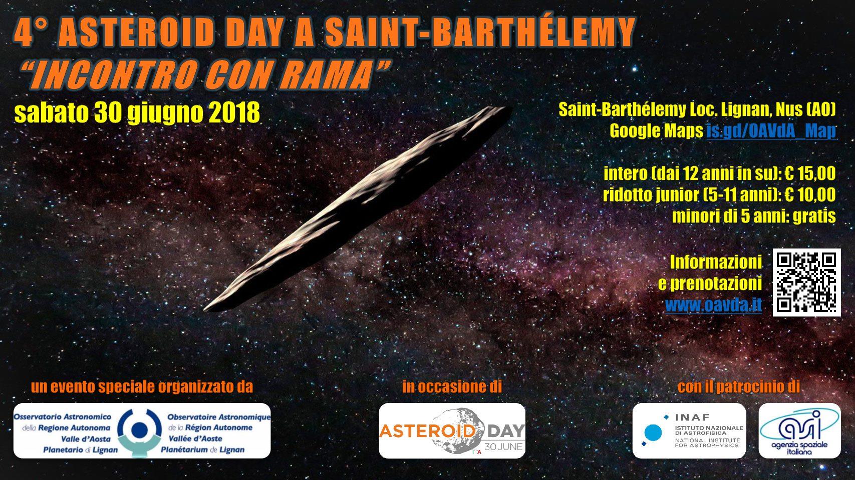 "4° ASTEROID DAY A SAINT-BARTHÉLEMY  ""INCONTRO CON RAMA"""