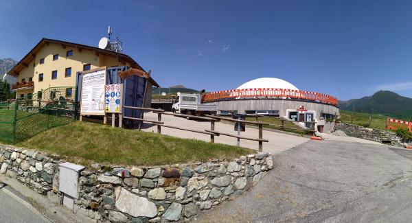 Panoramica area lavori Planetario